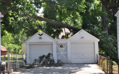 Fallen Tree on Garage: Before and After
